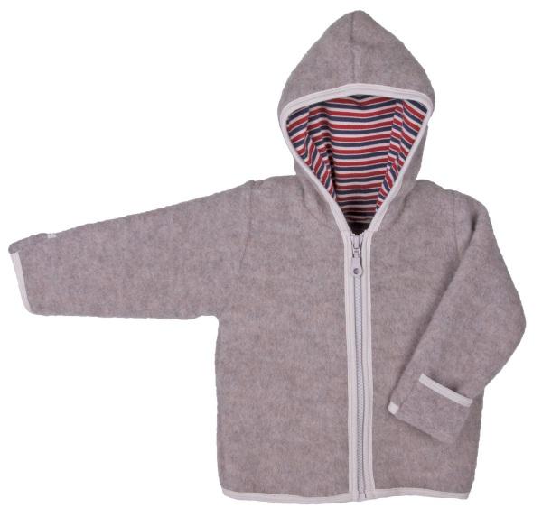 giacca pile di lana grigia