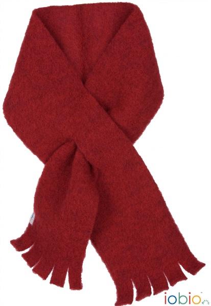 sciarpa pile di lana rossa