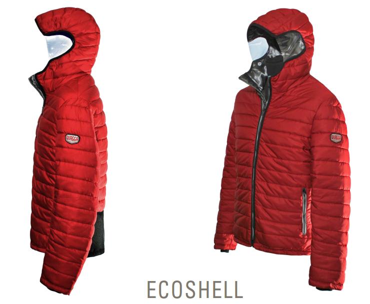 giacca a vento vegan quagga moto neve