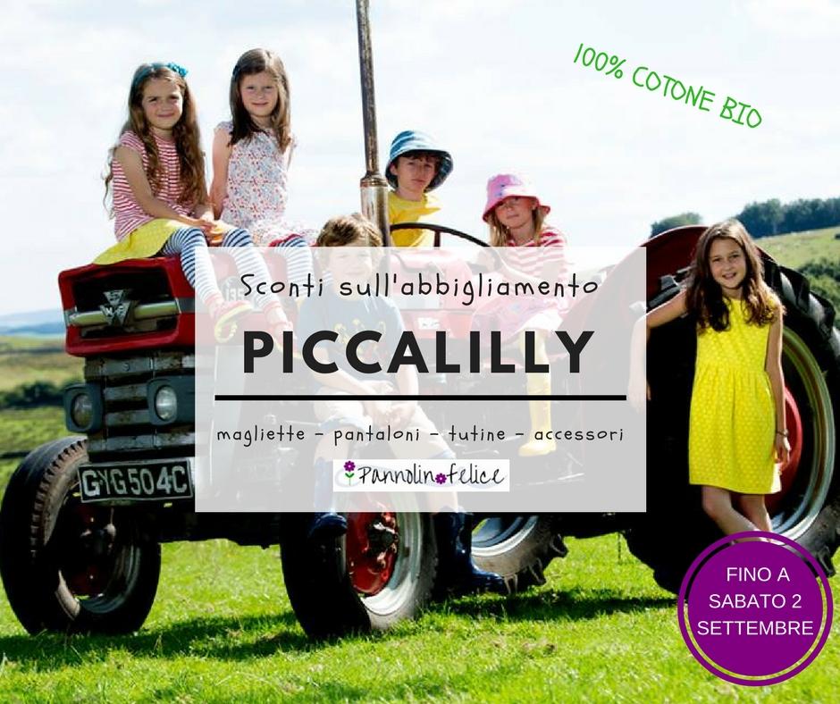 Promozione abbigliamento bio ed equo Piccalilly