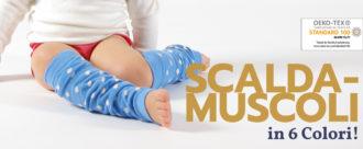 Leg warmers: scaldamuscoli multiuso per bambini in cotone