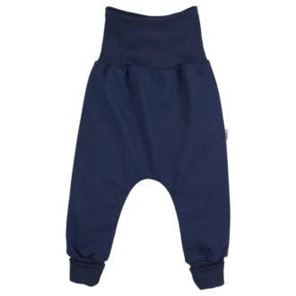Pantaloni cavallo basso bambino cotone bio blu
