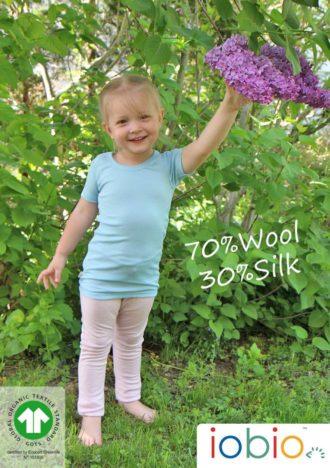 Intimo in lana/seta per bambini: body e canottiere Iobio