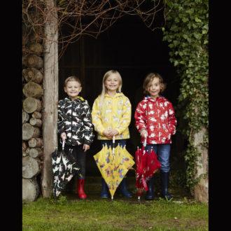 Impermeabili e ombrelli magici cambiacolore per bambini