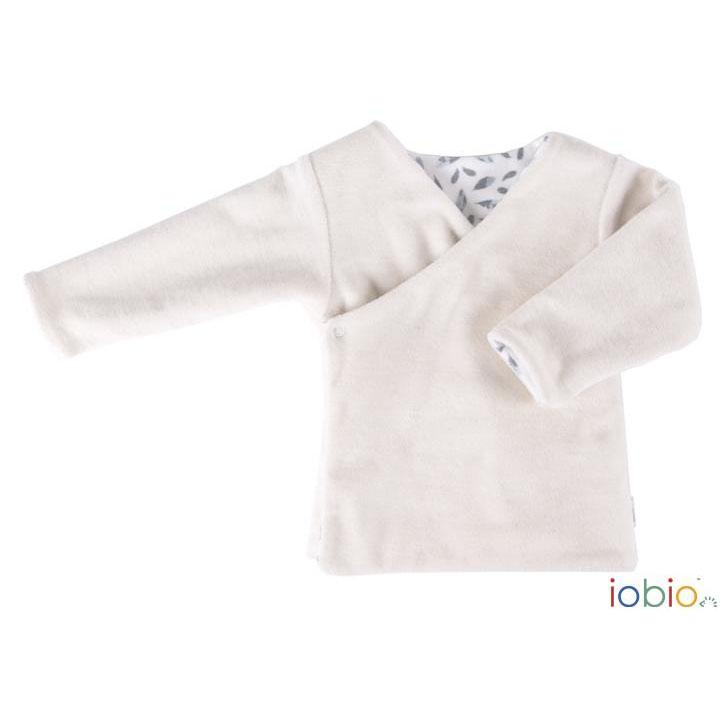 Completo neonato in ciniglia di cotone bio bianco · Pannolinofelice