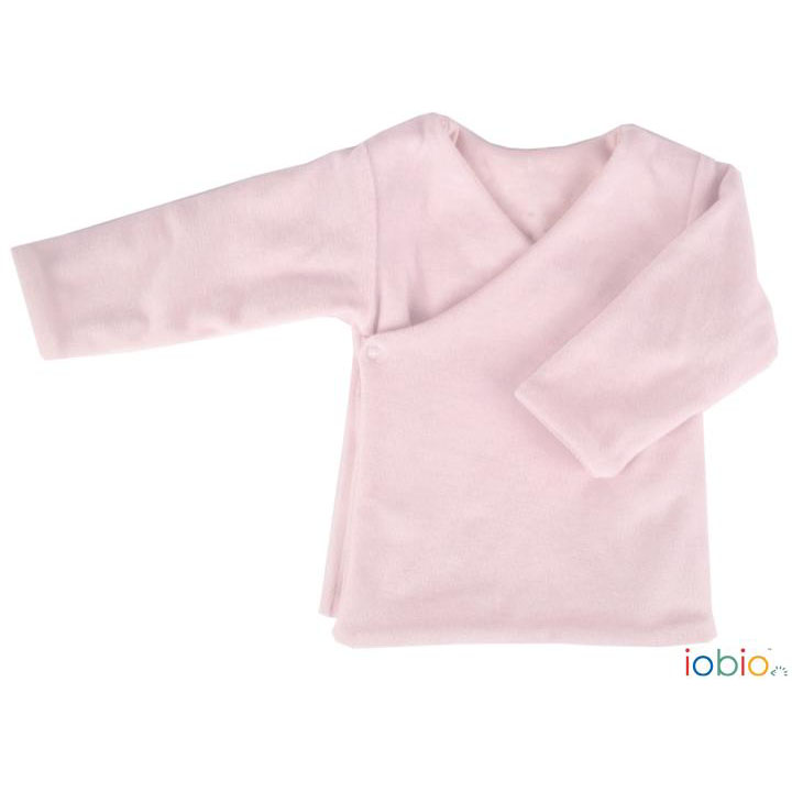 Completo neonato in ciniglia di cotone bio rosa · Pannolinofelice